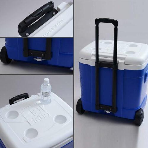 Cooler 60-Quart Ocean Blue Polyethylene