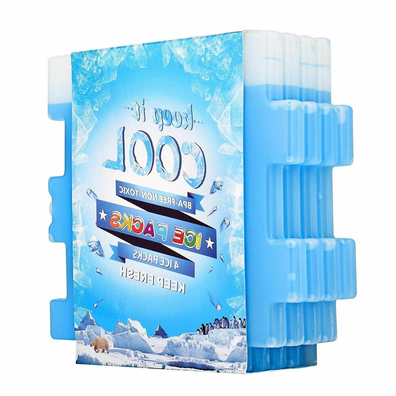 Ice Packs Set Of 4 Cool Pack For Lunch Box Freezer Bags & Co