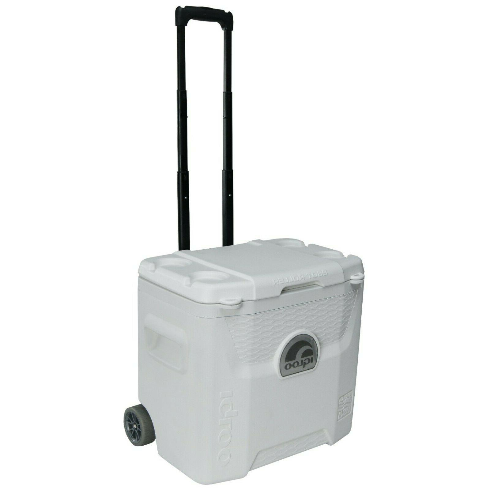 Igloo 00045929 White 42 Can Marine Quantum Cooler With Wheel
