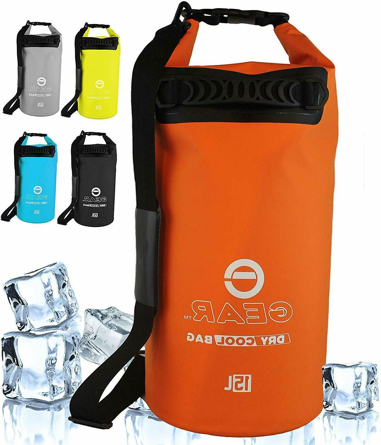 insulated backpack cooler waterproof dry bag 15l
