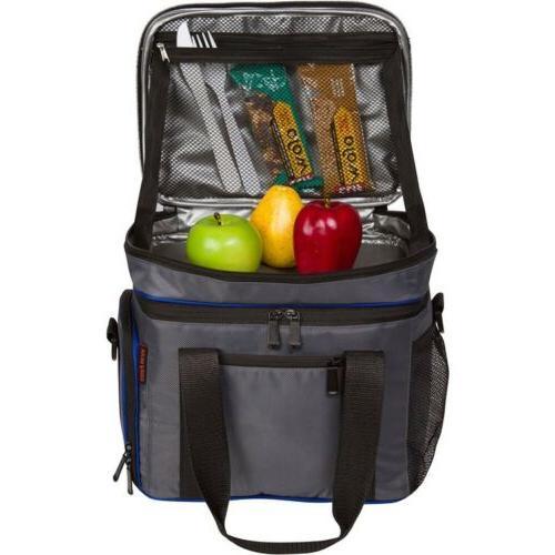 Insulated Grey/Blue Bag