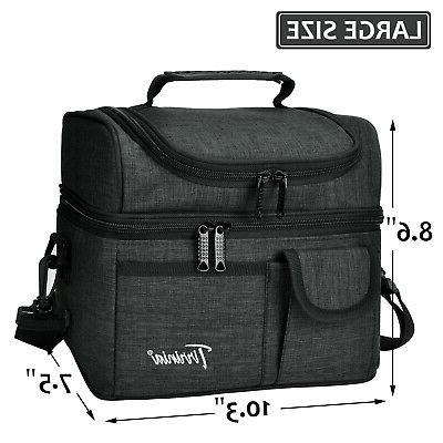 Insulated Lunch Bag Cooler Box Bag for Men Women Adult
