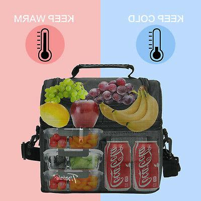 Insulated Lunch Bag Totes Cooler Bento Box Bag Women