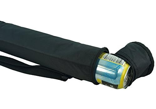 6-pack Insulated Tube Cooler, Black