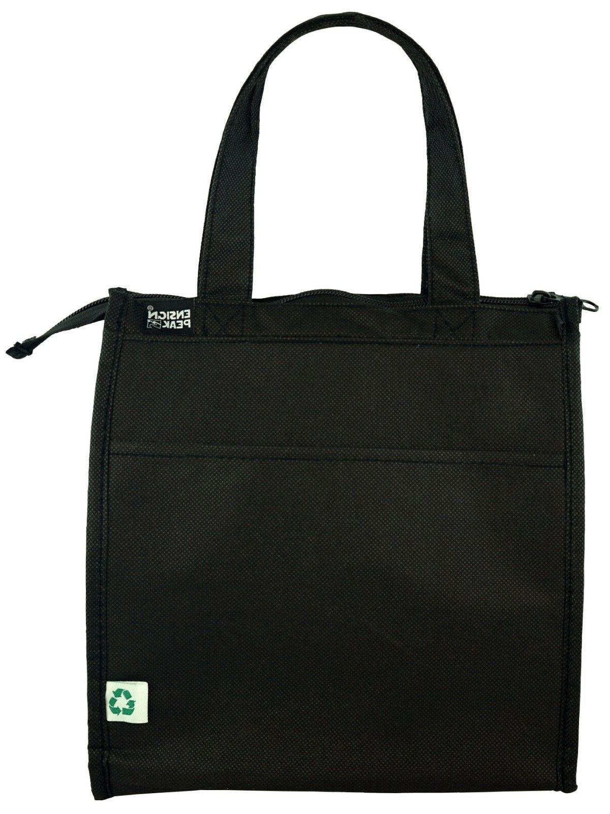 insulated zippered hot and cold cooler tote