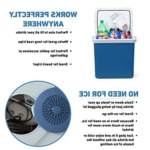 K-Box Cooler Warmer Home - 34 - Dual 110V House Vehicle