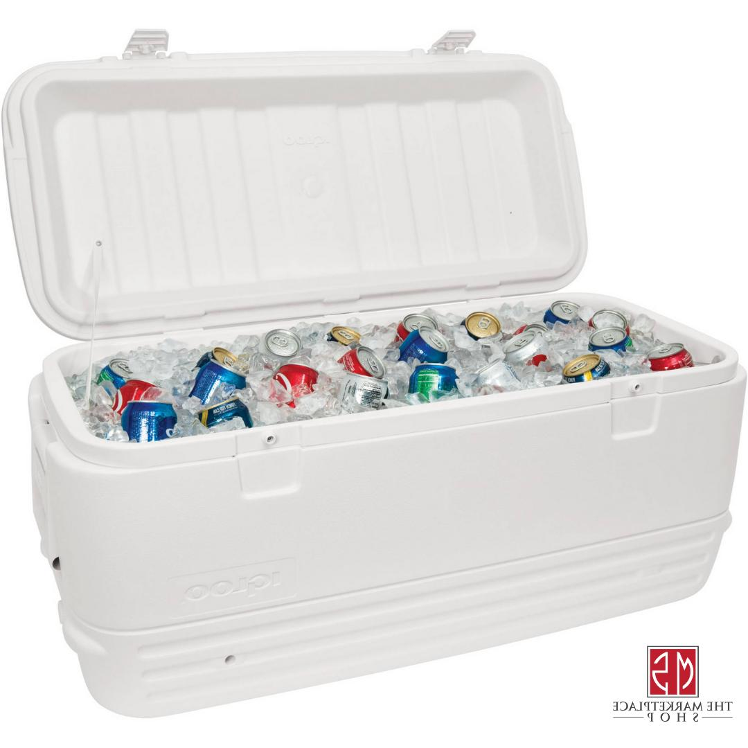 Large Cooler 120 Qt Cold Ice Chest Insulated Outdoor Camp Ma