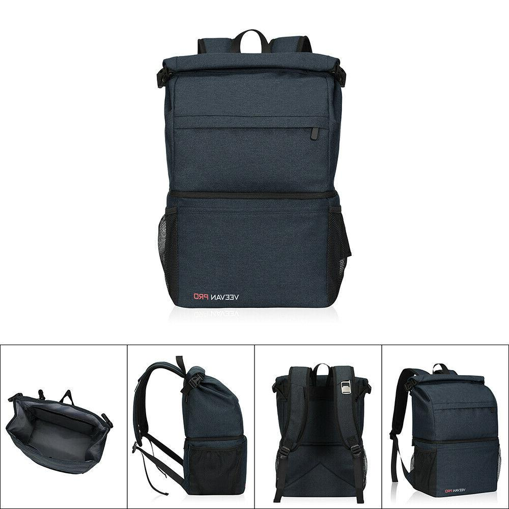 Leakproof Double Layers Camping Cooler Large Insulated Bag 22L