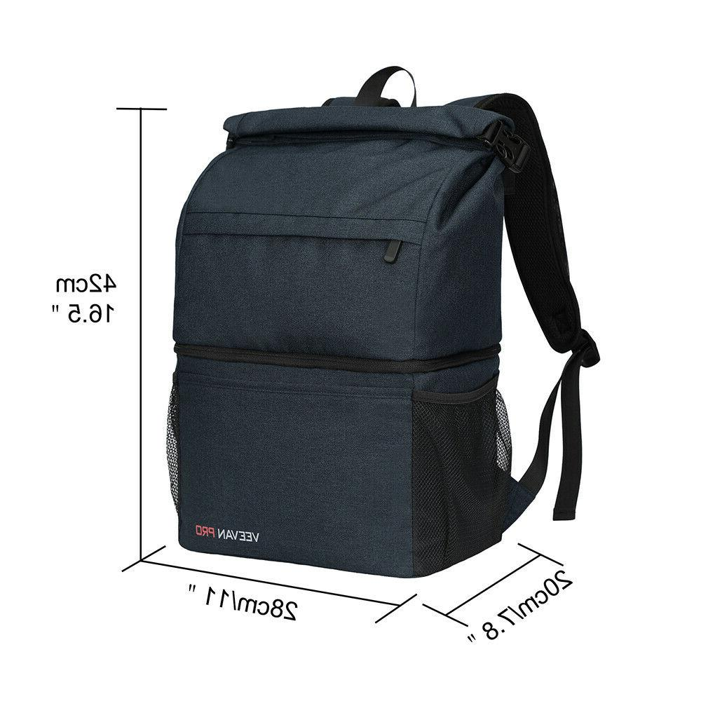 Leakproof Double Camping Cooler Backpack Large Insulated Bag 22L 18