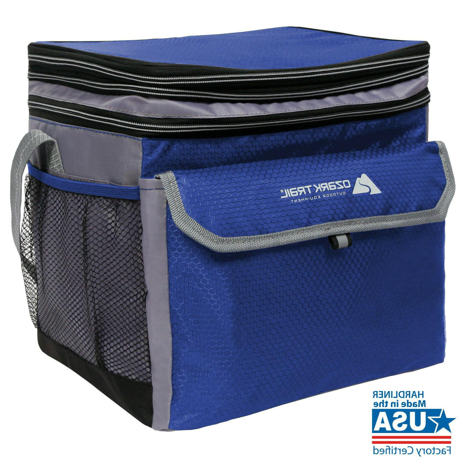 Ozark Trail Lunch Box 24 Can Expandable Cooler Soft Hard Lun