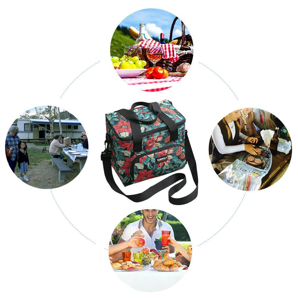 Lunch Lunch Bag Large Double Food Tote Men