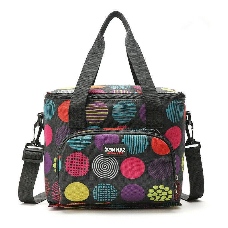 Lunch Insulated Food Cooler Tote Bag Men Women