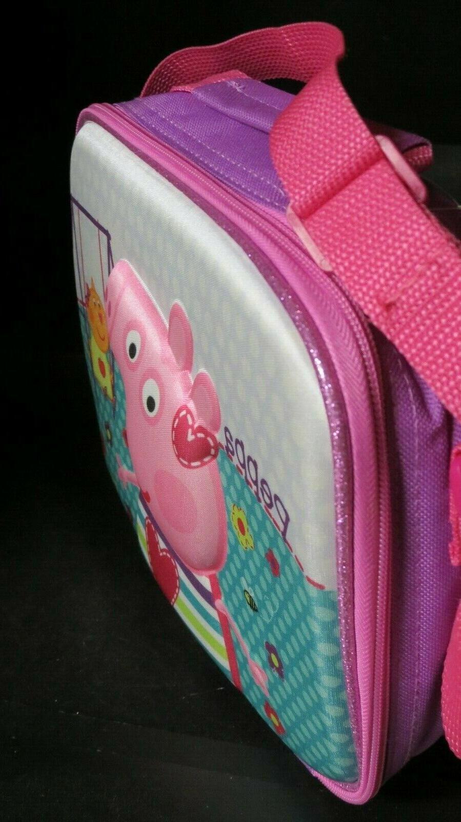 Peppa Lunch NEW! School, Kids , Purple Pink strap