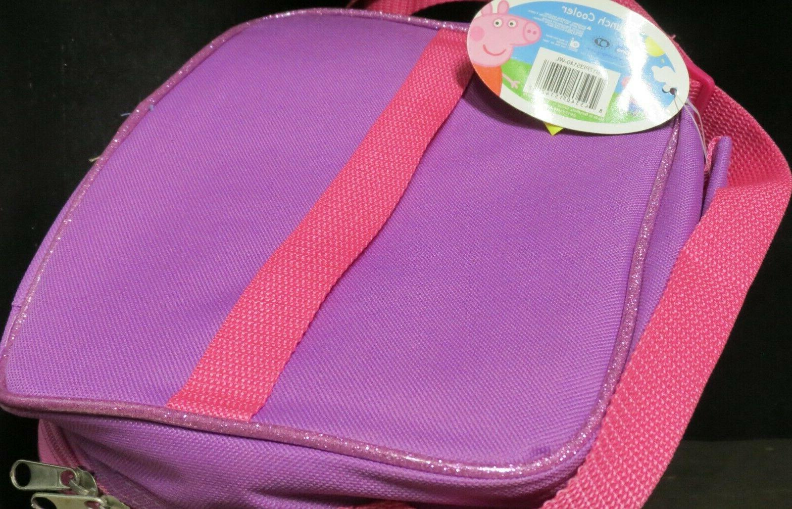 Peppa Pig cooler, NEW! Embossed , Purple strap
