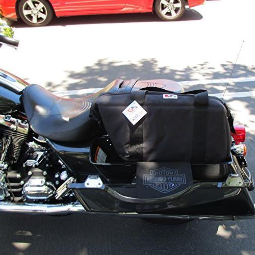 AO Motorcycle Saddle Bags Black