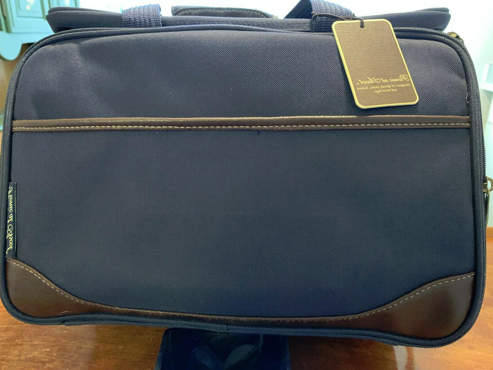 New Complete Picnic Ascot Leather Navy Cooler