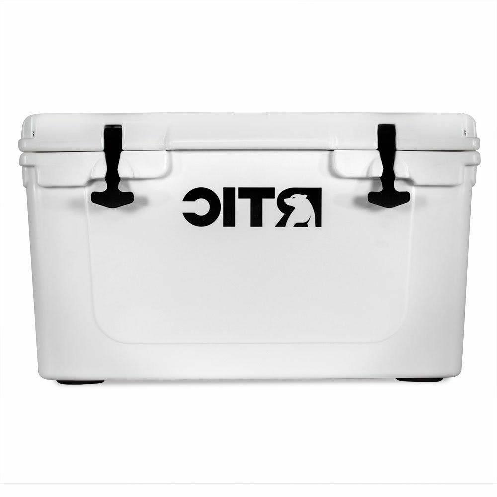 ~ LOOK ~ WHITE RTIC 45 COOLER ~ STOCK SHIP ~ ROTO MOLDED