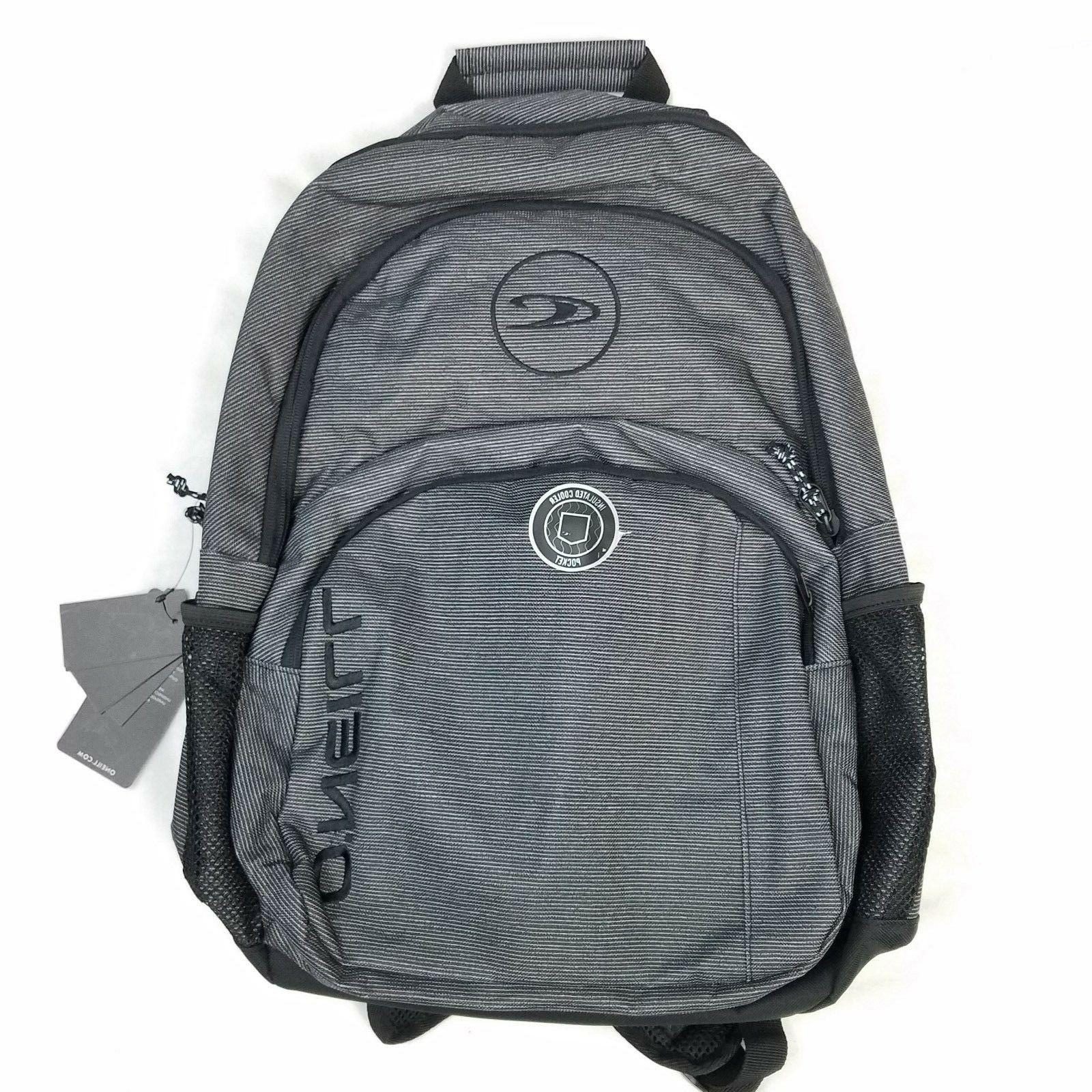 oneill trio backpack gray insulated cooler pocket