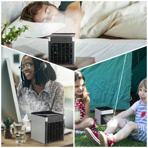 Portable Mini Air Cooler USB Fan Humidifier Purifier Home