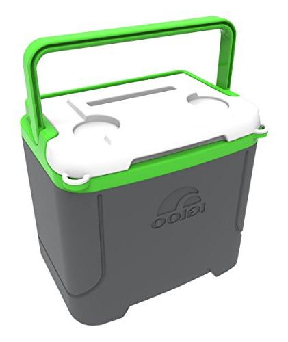 Igloo 16 Quart Cooler, Meteorite/Green, 16 / 15 24 Cans