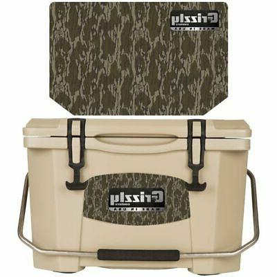 Grizzly Coolers - Tan - Mossy Oak - Bottomland - 20 Quart