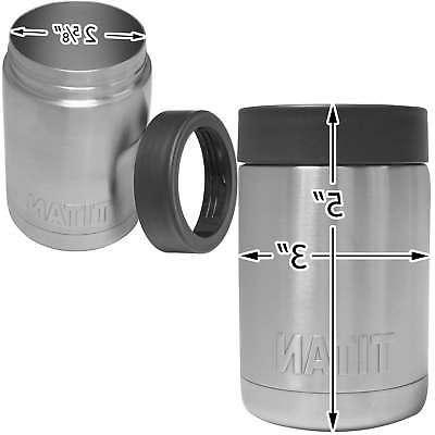 Titan Stainless Can Cooler Cup