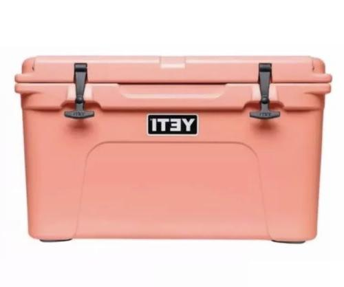 tundra 45 qt cooler limited edition coral