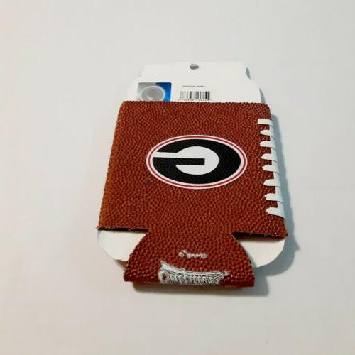 University of Faux Leather Holder Cooler Koozie Coolie NWT