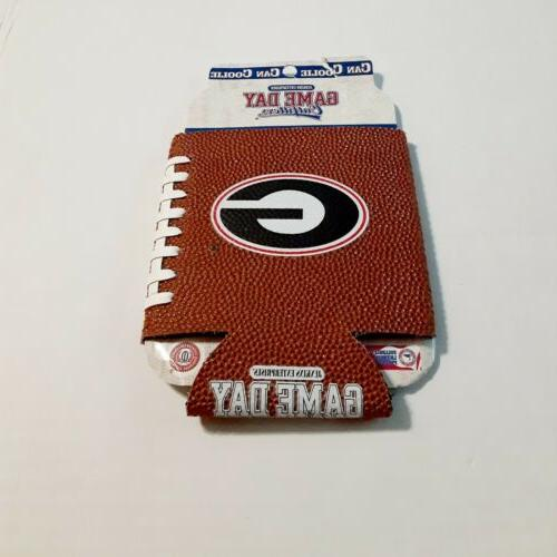 University Georgia Faux Leather Can Cooler Coolie