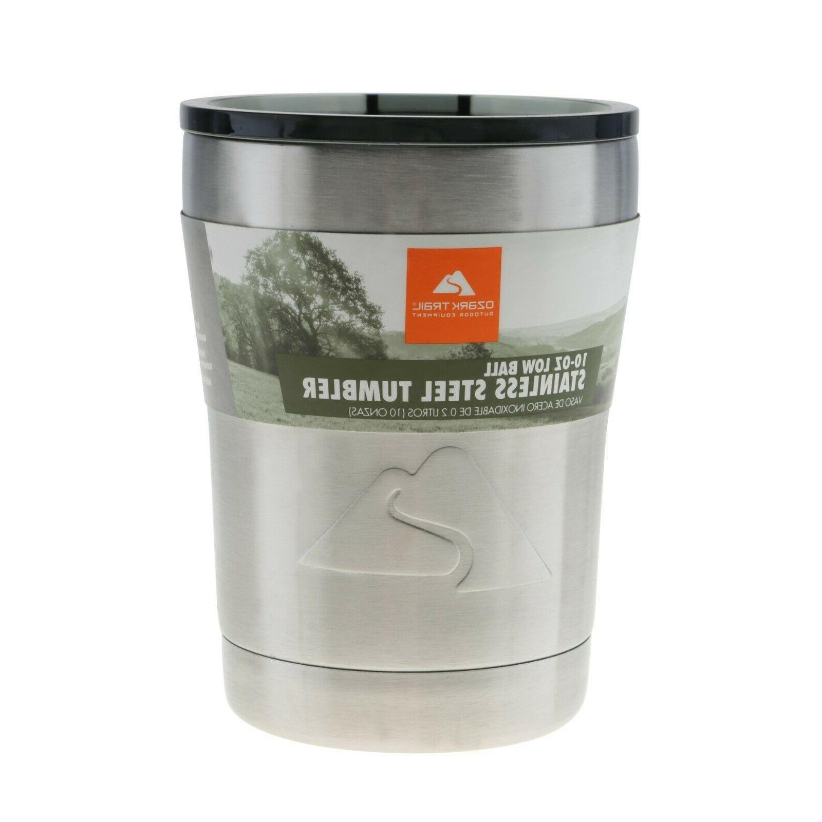 vacuum insulated stainless steel lowball
