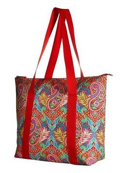 VERA BRADLEY LARGE INSULATED COOLER TOTE PAISLEY IN PARADISE