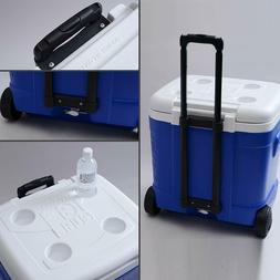 Large Portable Cooler With Wheels Beach 60 Quart Insulated R