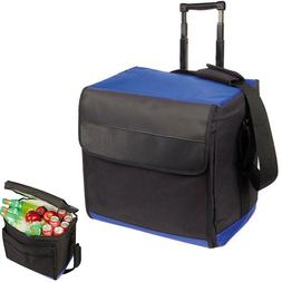 Large Rolling Insulated Cooler With Wheels Lunch Box Bag Com