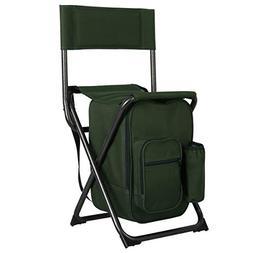 PORTAL Lightweight Backrest Stool Compact Folding Chair Port