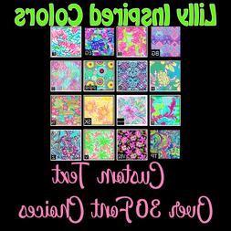 Lilly Patterned Custom Text Name Decal Sticker for YETI Tumb