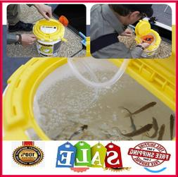 Live Fish Bait Bucket With Aerator Fishing Aerated Saver Min