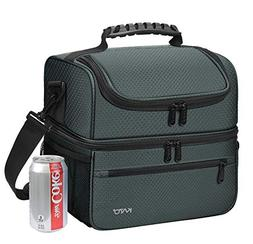 Kato Extra Large Lunch Bag for Men & Women, Insulated Adult