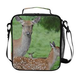 Lunch Box Bag Insulated Lunch Tote Animal World Baby Deer Wi