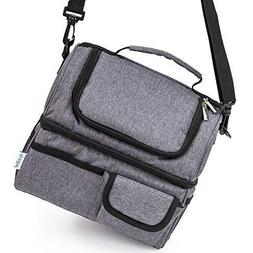 Best Lunch Bags for Women or Men: Grey Thermal Lunch Bag for