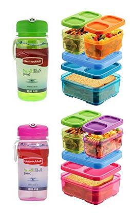 Rubbermaid Lunch Blox and Chug Bottles Set - 2 Sandwich Kits