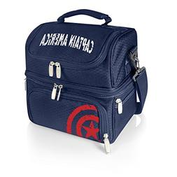 Marvel Captain America Pranzo Insulated Lunch Tote with Serv