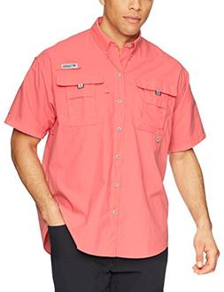 Columbia Men's Bahama II Short Sleeve Shirt, Salmon, Large
