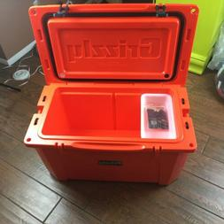 NEW Grizzly Coolers 60 Quart Rotomolded Heavy Duty ORANGE Ca