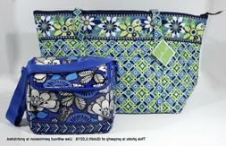NEW LARGE VERA BRADLEY MILLER BAG Tote Bag DAISY DAISY + Ins