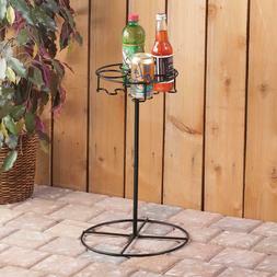 Outdoor Drink Holder Rack Beverage Cart Pool Patio Deck Beac
