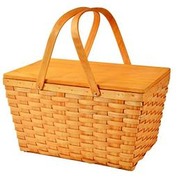 Overland Basket in Honey Finish