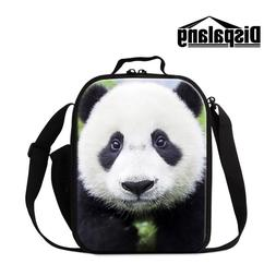 Panda Lunch Bag for Girl Small Travel Cooler Bag Pattern Cut