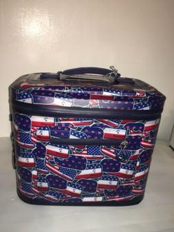 Patchwork Whale 12 Can Cooler-Pink/Blue- vineyard vines for