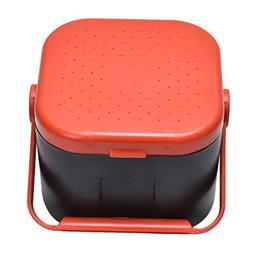Happu-store 1 Pcs Portable Plastic Bait Box with Breathable