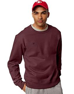 Champion Men's Powerblend Pullover Sweatshirt, Maroon, Mediu